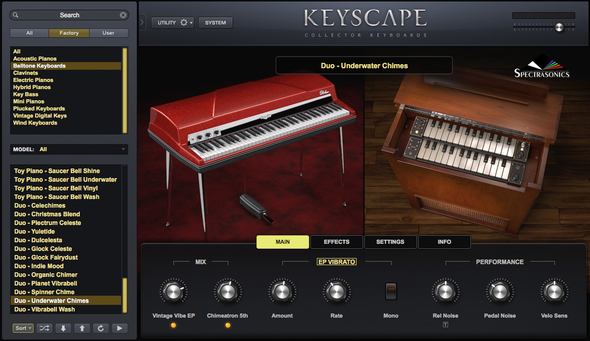 Spectrasonics - Keyscape - Collector Keyboards