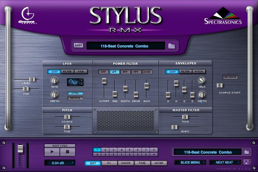 Spectrasonics - Products - Stylus RMX - Audio Demos