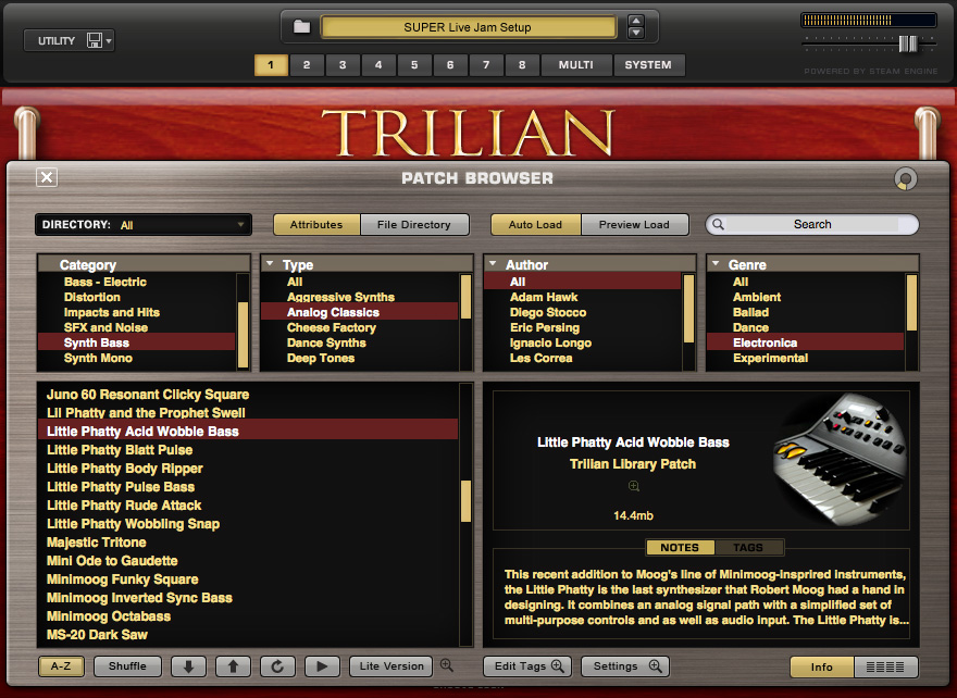 spectrasonics - products - trilian